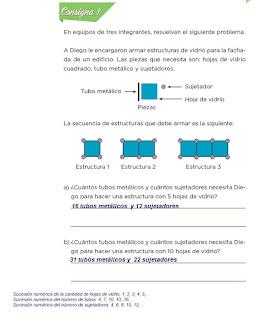 Respuestas Apoyo Primaria Desafíos Matemáticos 4to. Grado Bloque IV Lección 69 Estructuras de vidrio