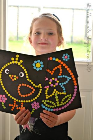 dotty easter art for kids from baker ross