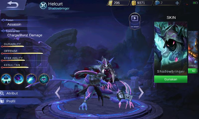Inilah Top Guide Item Helcurt Mobile Legends Assassin Terkuat