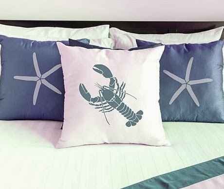 stenciling pillow