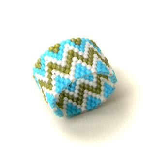 купить украшения ручной работы кольцо из бисера 18 размер