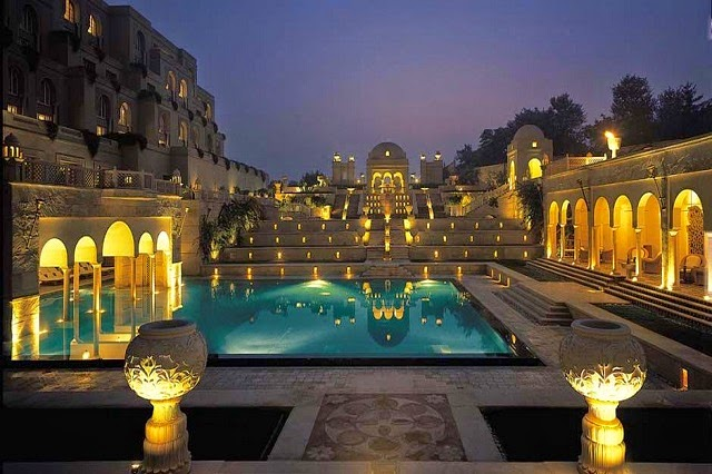 Evening View at The Oberoi Amarvilas, Agra  IMAGES, GIF, ANIMATED GIF, WALLPAPER, STICKER FOR WHATSAPP & FACEBOOK