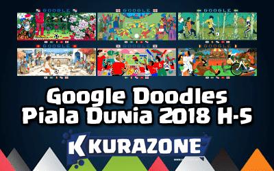 Google Doodles - Piala Dunia 2018 H-5