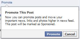 Promo a Post Facebook