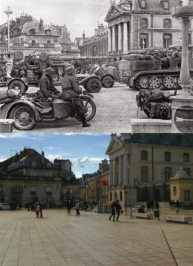 French Town Recreated Perfectly Using 70 Year Old WWII Photos