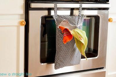 bolsa para organizar los paños de cocina