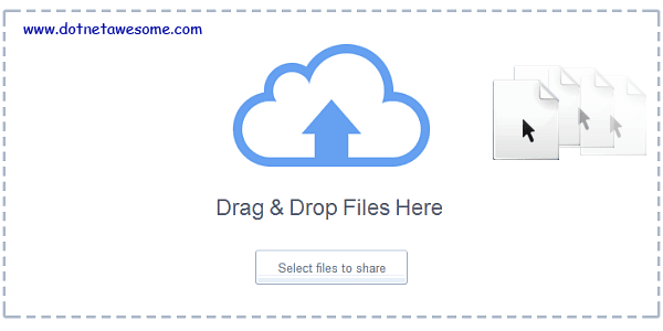 Drag & drop file upload in ASP NET MVC | DotNet - awesome