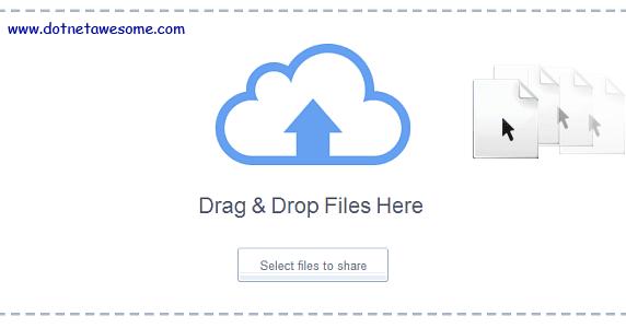 Drag & drop file upload in ASP NET MVC | DotNet - awesome