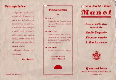 Encuentro de ajedrez en Granollers en 1932