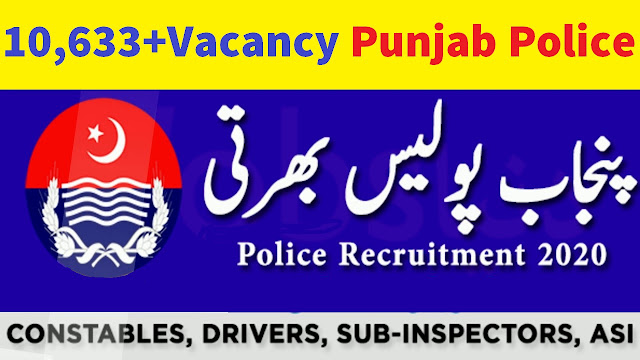 10,633+Vacancy in Punjab Police 2020 Apply Online