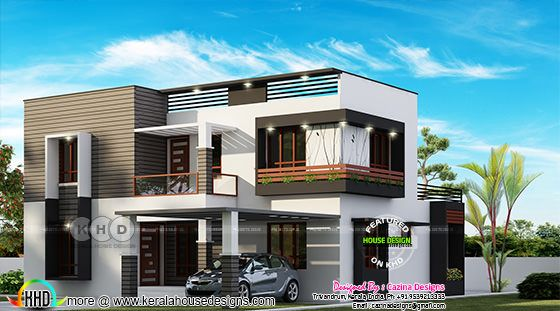 4 bedroom modern flat roof house 2600 sq-ft