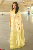 Harshitha looks stunning in Cream Sareei at silk india expo launch at imperial gardens Hyderabad ~  Exclusive Celebrities Galleries 049.JPG