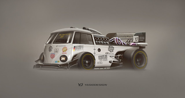 VW Split-screen race concept by Yasid Design