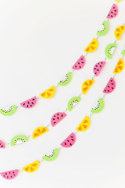 diy tiny fruit garland