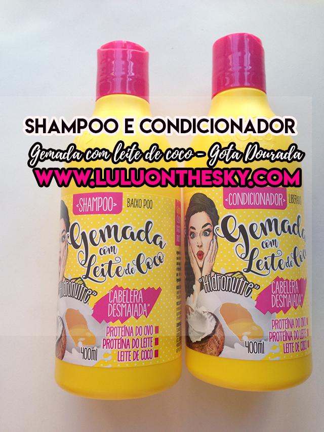 Shampoo e Condicionador Gemada com Leite de Coco - Gota Dourada