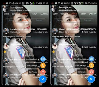 DOWNLOAD KUMPULAN BBM MOD TRANSPARAN  September 2016