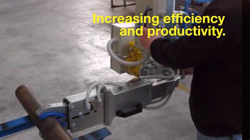 Lift Assist Articulating Arm : Kinetrol pneumatic rotary vane actuator may