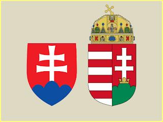 Escudos Eslovaquia y Hungría