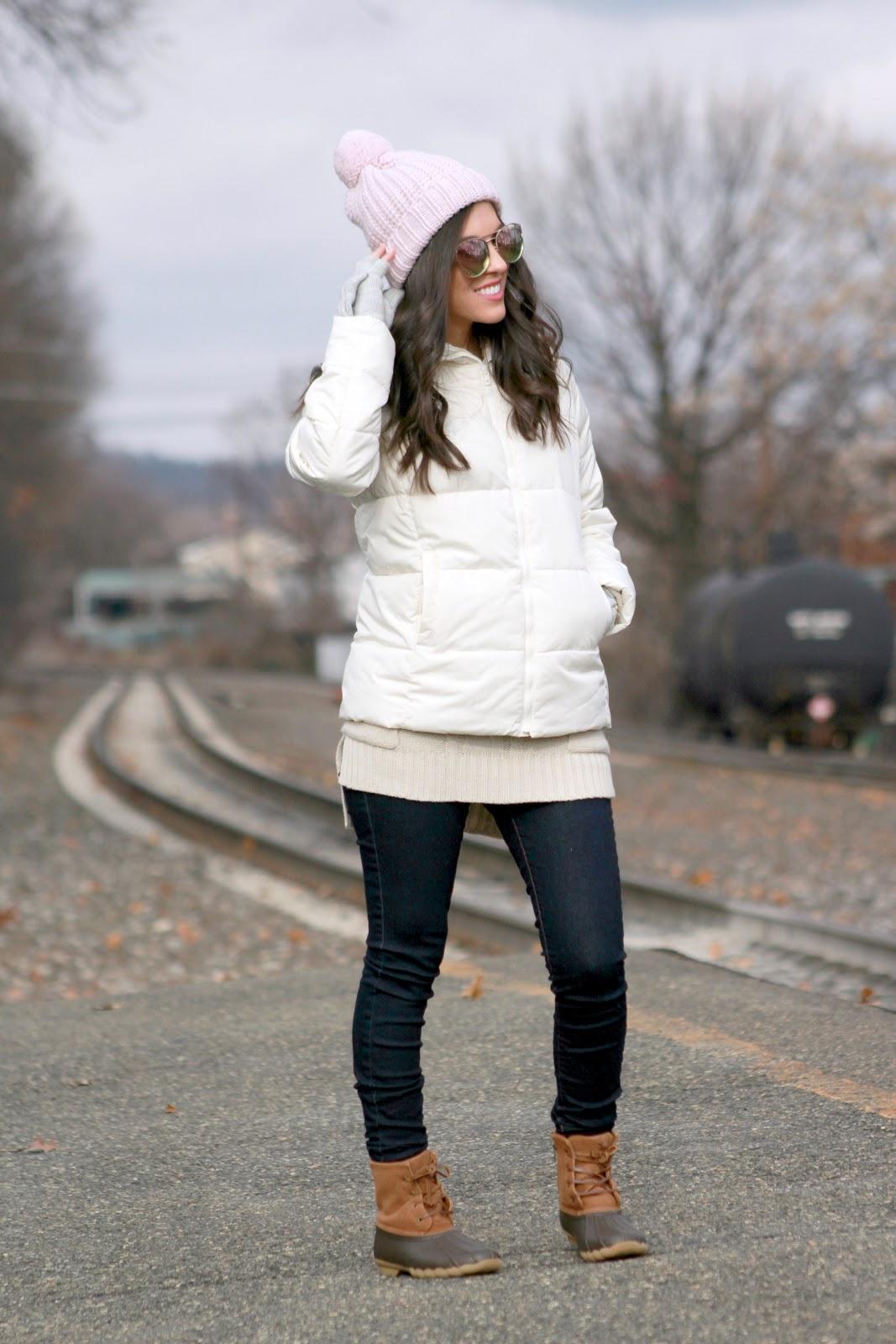 Winter Outerwear look-beanie-duck bookts-jacket