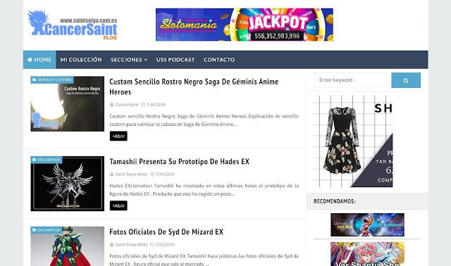 Nueva apariencia para este blog www.saintseiya.com.es