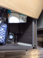 Under bed storage compartment.