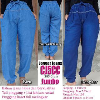 Celana jogger jeans panjang ukuran jumbo