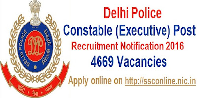 Delhi Police 4669 Constable Recruitment