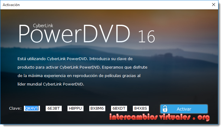 powerdvd activation url