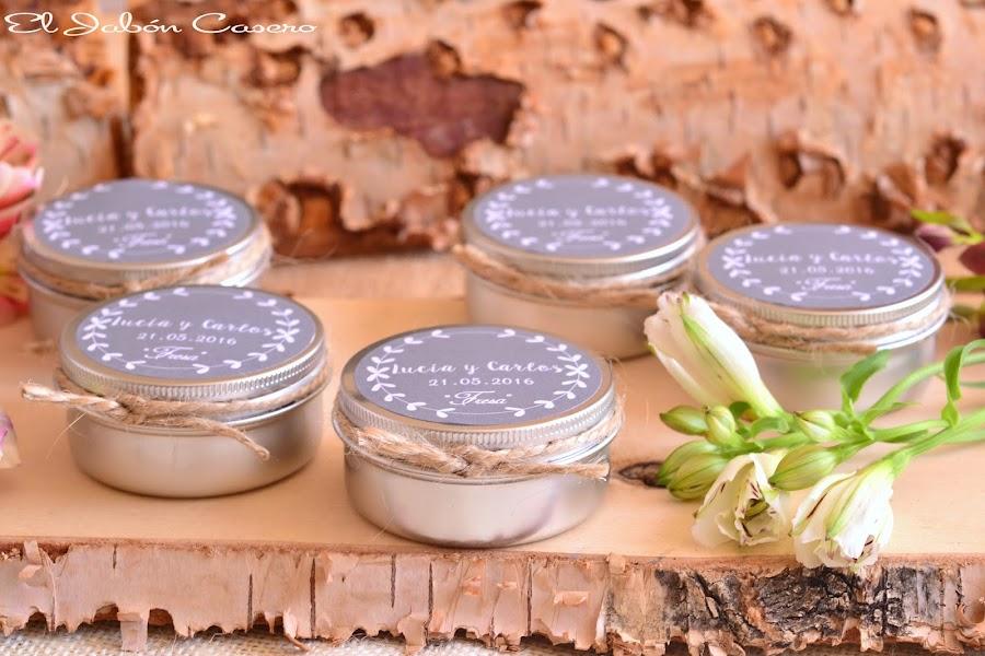 detalles para bodas velas aromaticas de cera vegetal