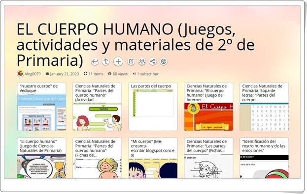11 juegos, actividades y materiales sobre EL CUERPO HUMANO en 2º de Primaria