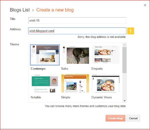 अब आपको new blog create करना है , Blog Create करना                   बहुत ही आसान है