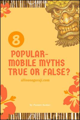Popular mobile myths