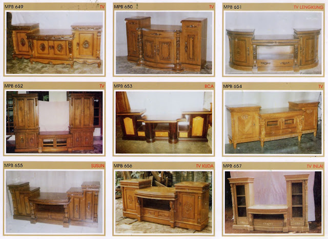 TV cabinet jati