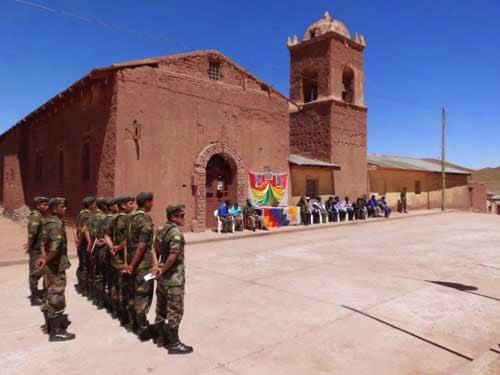 Die Feier anlässlich der Gründung der Provincia Sud Lipez