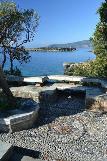 iew from Patrick Leigh Fermor's garden in Kardamyli Greece
