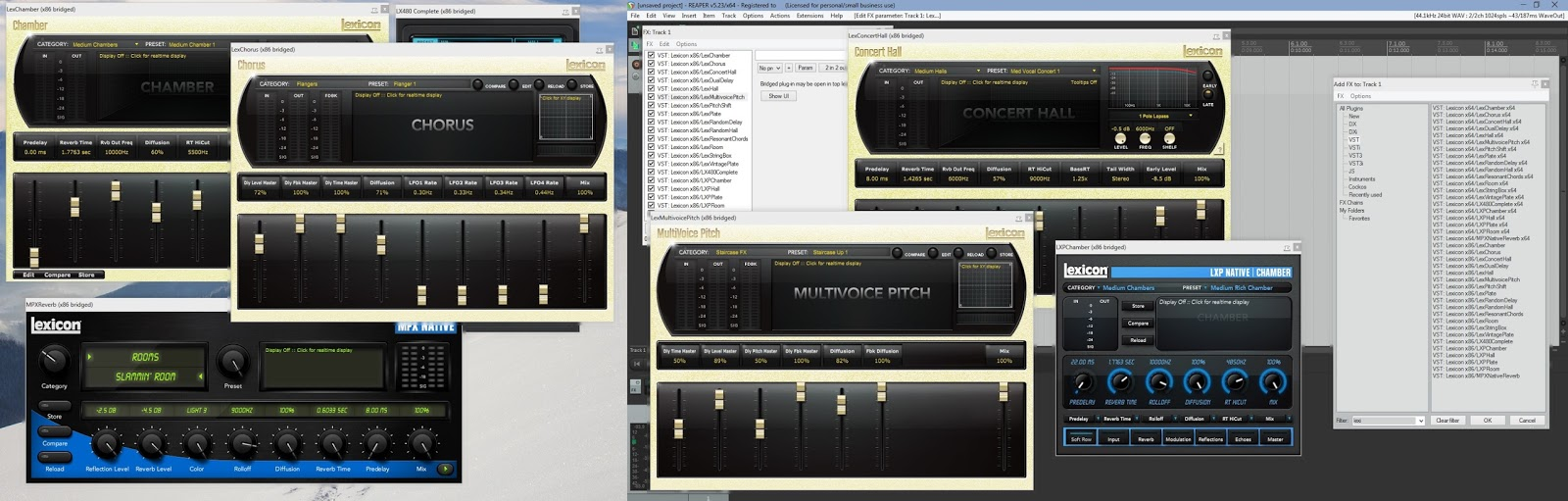lexicon mpx native reverb test