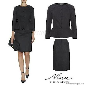 Queen Letizia wore Nina Ricci Peplum Skirt Suit