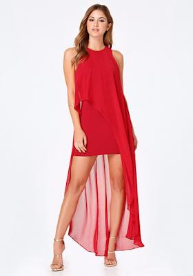 imagenes de Vestidos de Noche Rojos