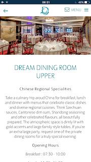 dream cruise dinning room upper