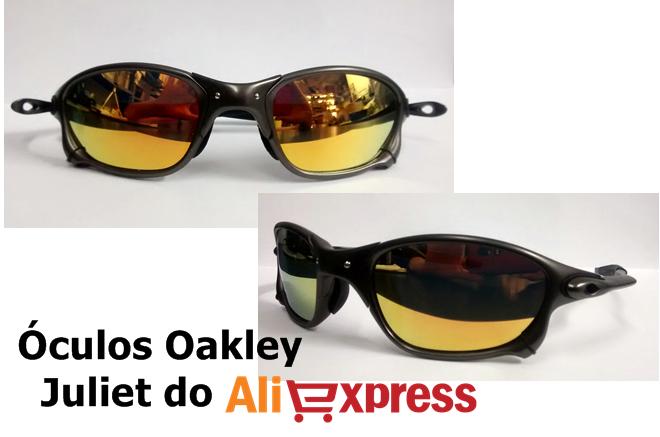 ... mais uma comprinha do Aliexpress, como sempre trago para vocês produtos  diferentes. Dessa vez é uma réplica do óculos Juliet da Oakley. 4e694e9667