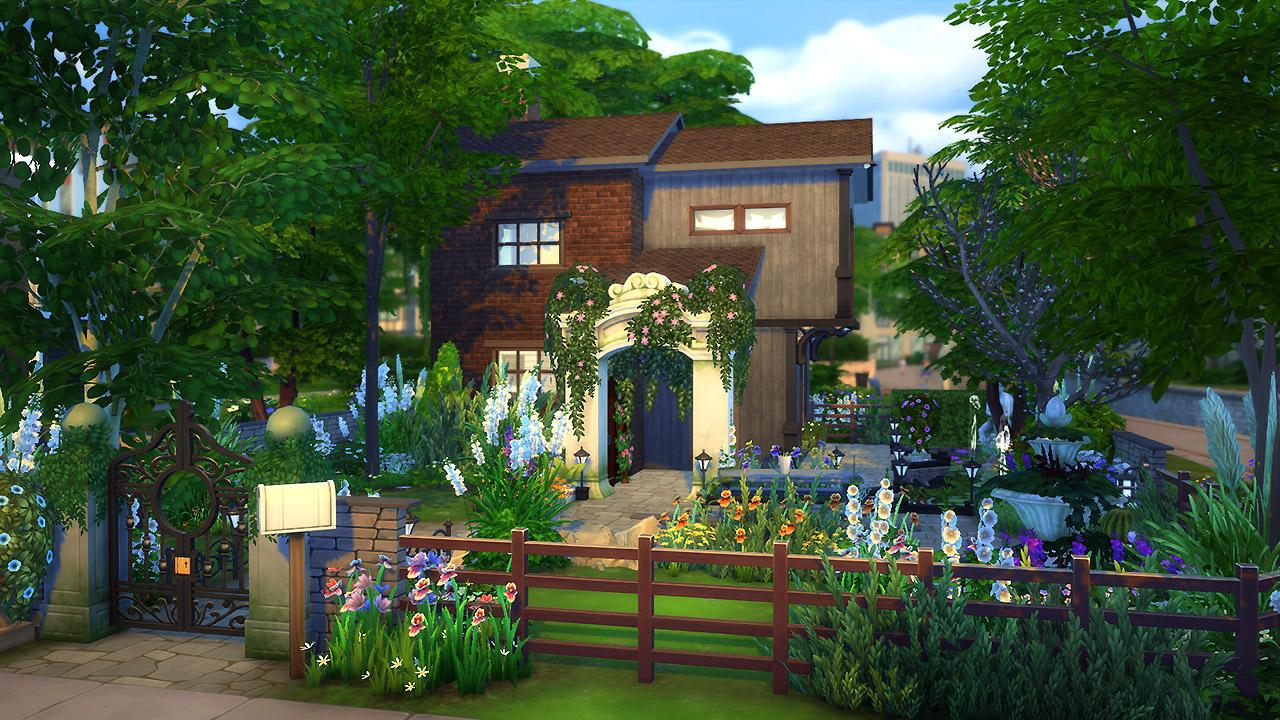 Cozy Garden Retreat  Sims 4 Houses