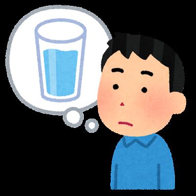 喉が渇いた人のイラスト(男性)