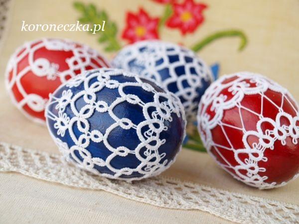 Frywolitkowe pisanki - Easter Egg