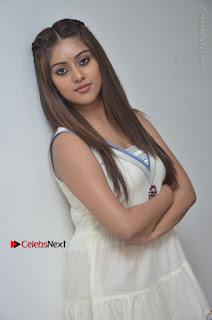 Telugu Actress Anu Emmanuel New Stills in Beautiful White Long Dress  0019.JPG