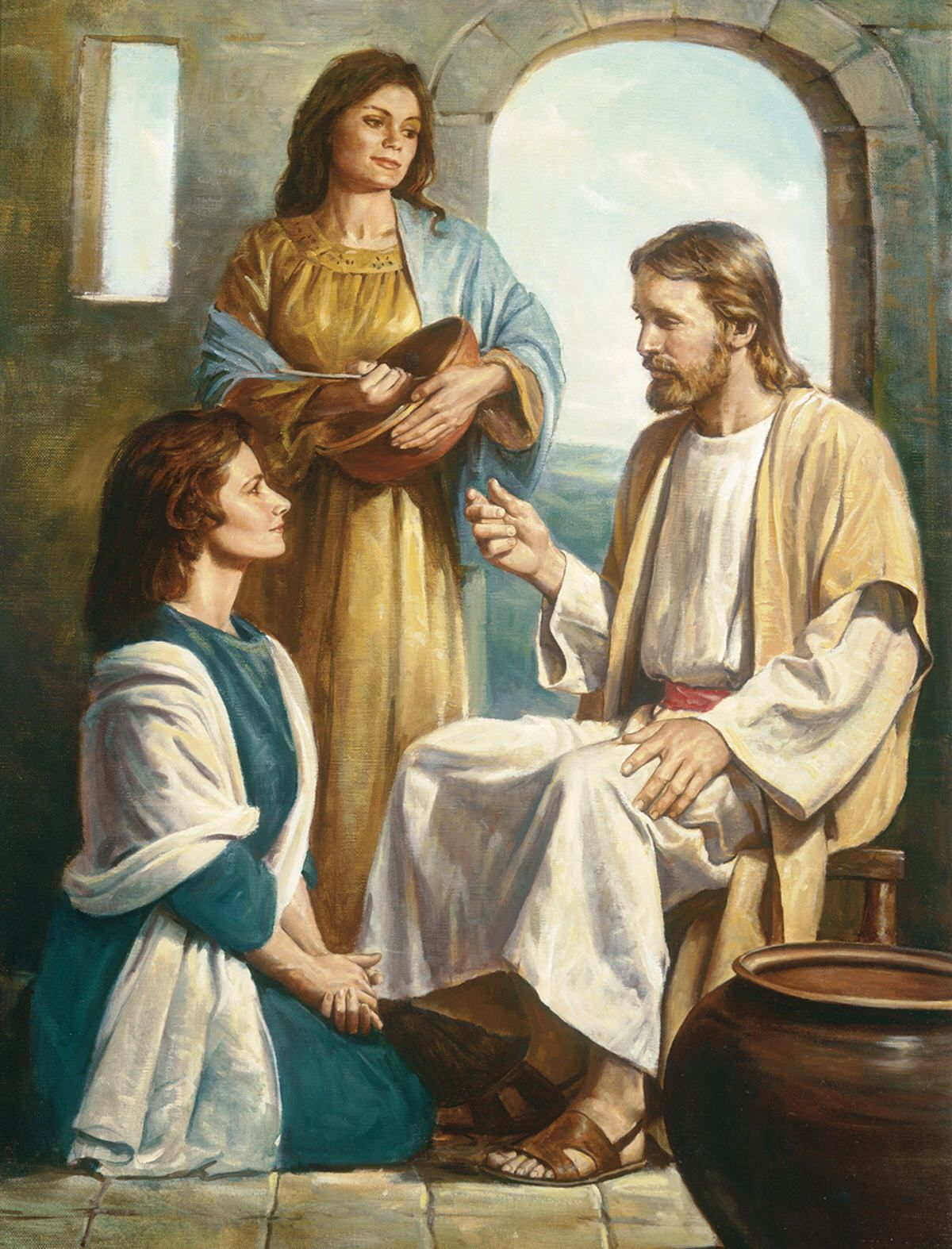 When Jesus visited the house of the sisters Mary and Martha and their brother Lazarus in the village of Bethany, He was welcomed warmly (Luke 10:38-42).