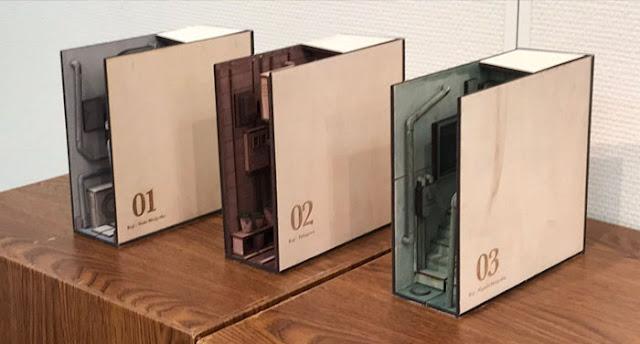 Seniman Jepang Membuat 'Diorama Rak Buku' Bertema 'Gang' yang Terlihat Nyata!