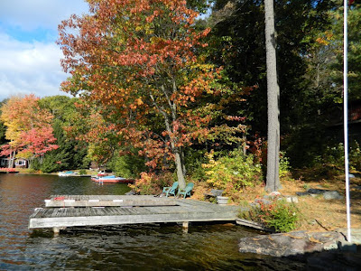 Dockside lake muskoka cottage thanksgiving 2012 by garden muses- a Toronto gardening blog
