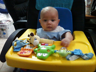 Max has his 4 month doctor appointment for baby immunization, vaccination, vaccines