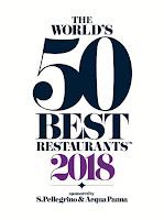 The 2018 San Pellegrino list for worlds 50 best restaurants