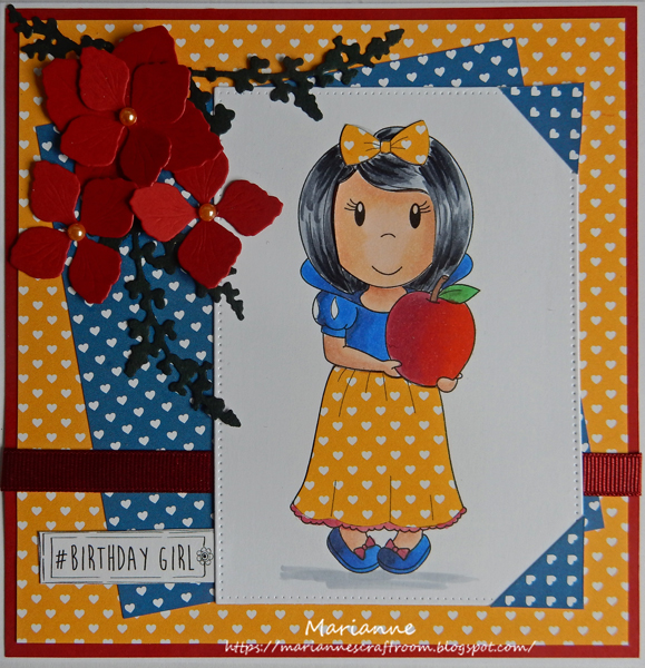 #Papernestdolls Princess with Apple | By Marianne GDT